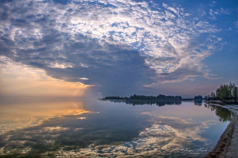 утро, восход, весна, апрель, река, днепр Крылья рассветаphoto preview