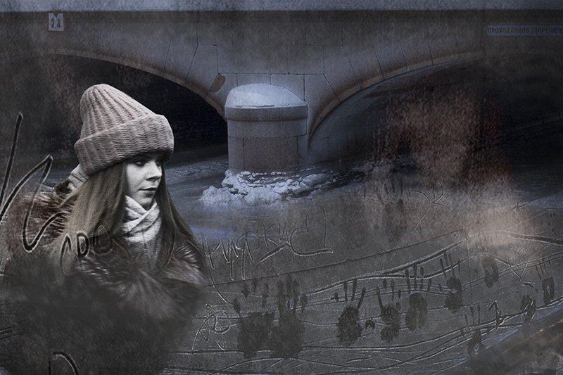 Морозное граффити Аничкова мостаphoto preview
