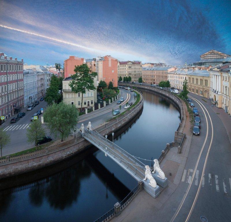 санкт-петербург, россия, russia, bridge, sunrise, рассвет, канал грибоедова, питер Львиный мост, канал Грибоедоваphoto preview