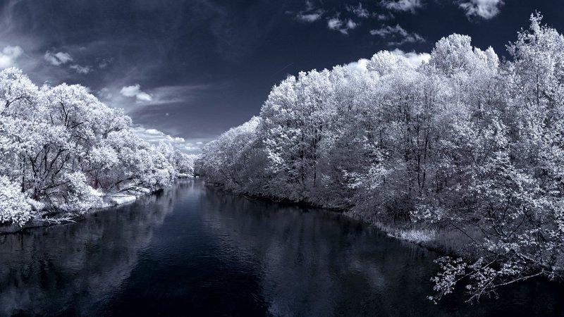 infrared,ик-фото,инфракрасное фото, инфракрасная фотография, пейзаж, весна, беларусь Вчерашний сон.photo preview