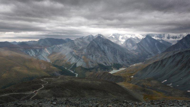 горы, облака, природа, алтай, рассвет, река, путешествие, россия, озеро Аккемские пейзажиphoto preview