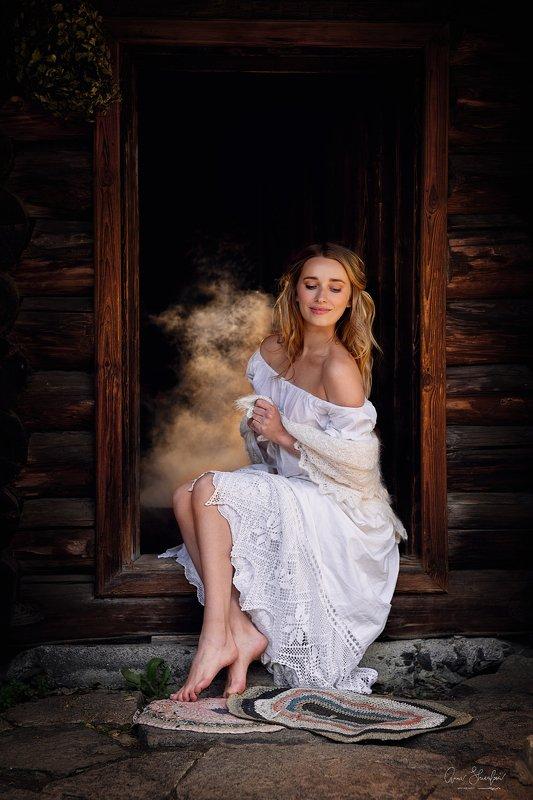 портрет красота девушка арт в предвкушении банькиphoto preview