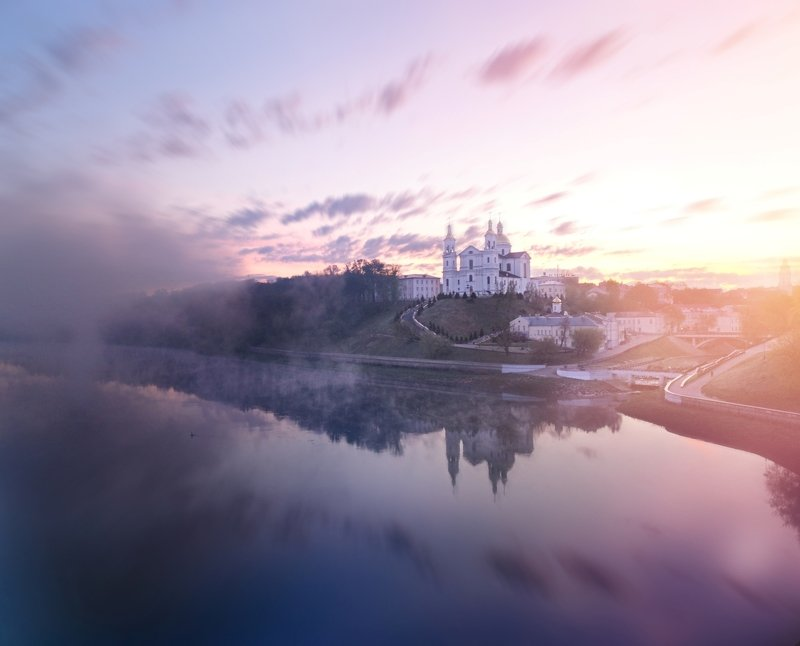 рассвет над двиной, витебск, городской пейзаж, помолейко, двина, cityscape, pomoleyko, vitebsk Рассвет над Двинойphoto preview