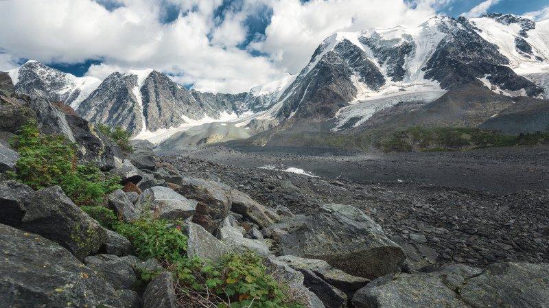 горы, облака, природа, алтай, рассвет, река, путешествие, россия, озеро Ледники Мюштуайрыphoto preview