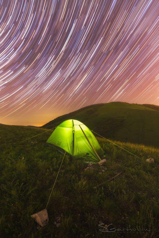 Маркхотский Хребет, Краснодарский край, кубань, палатка, треки, ночной пейзаж, туризм, звезды, звёзды Крутятся мысли, не уснутьphoto preview