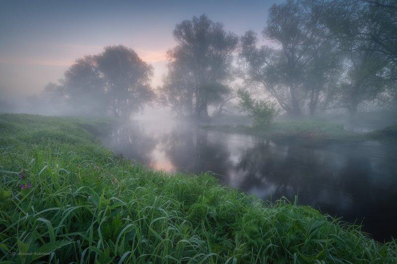 угра,рассвет,утро,пейзаж Предрассветная майская нега... фото превью