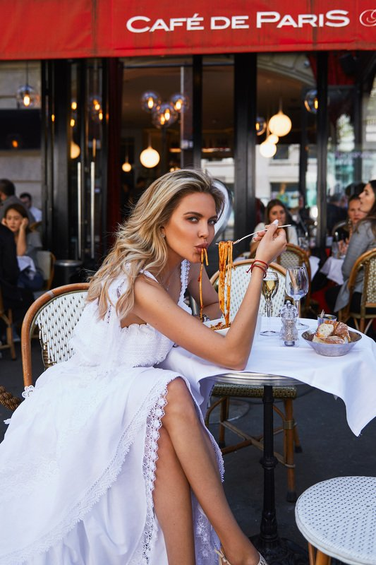 Paris, cafe, girl, beauty, cute, white, food ***photo preview