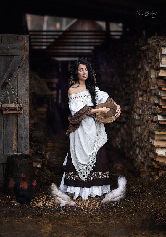 портрет красота девушка арт цыплят не будетphoto preview