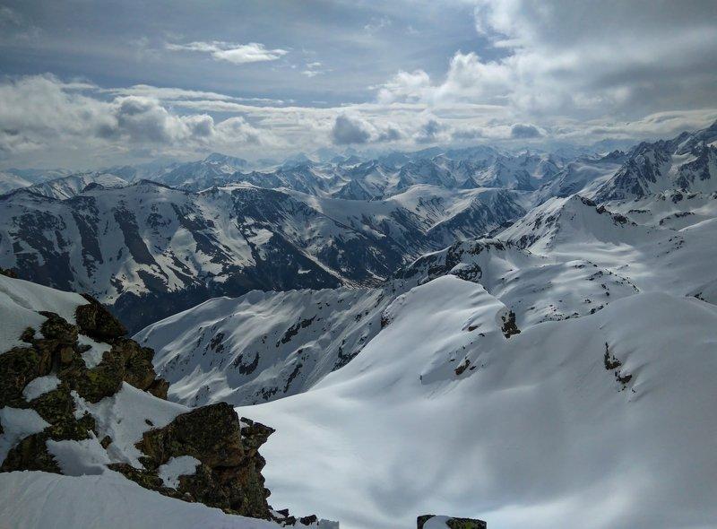 горы, облака, кавказ, альпинизм и гор заснеженных вершины....photo preview