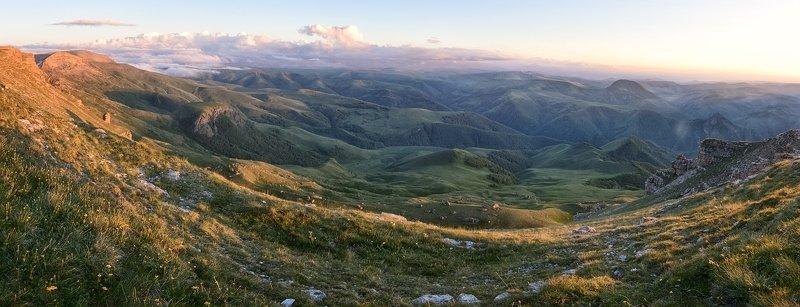 кавказ,горы,плато,закат. Незабываемый Бермамыт.photo preview