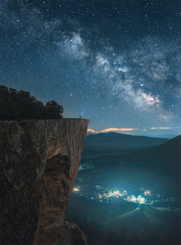 крым, качи-кальон, ночной пейзаж, млечный путь, пейзаж Качи-Кальон фото превью