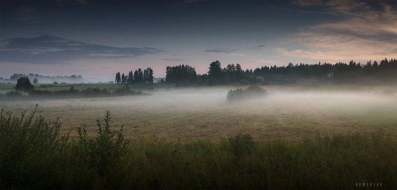 карелия, вечер, туман, лес, поля, karelia, fog, forest, mist, mood, field\\\'s. Карельская пастораль.photo preview