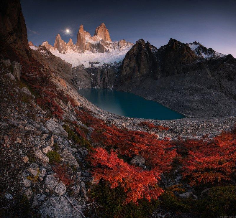 патагония, фицрой, patagonia, fitzroy Между солнцем и луной фото превью