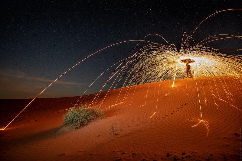 morocco, марокко, africa, африка, sahara, сахара, desert, пустыня, night, ночь, nightscape, landscape, пейзаж, stars, звезды, travel, тревел, пламя, огонь, фаир, fire Пламя Сахары / Flame of Saharaphoto preview