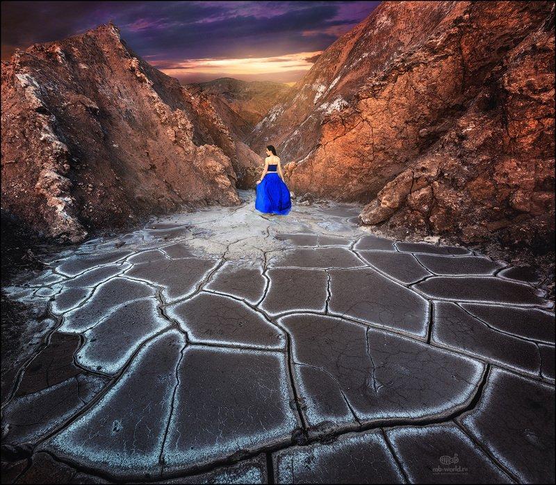 Чили, пустыня Атакама, закат,  пейзаж Закат в пустыне Атакамаphoto preview