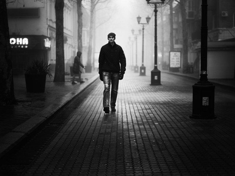 черно белое, город, улица, керчь, фотография, люди ***photo preview