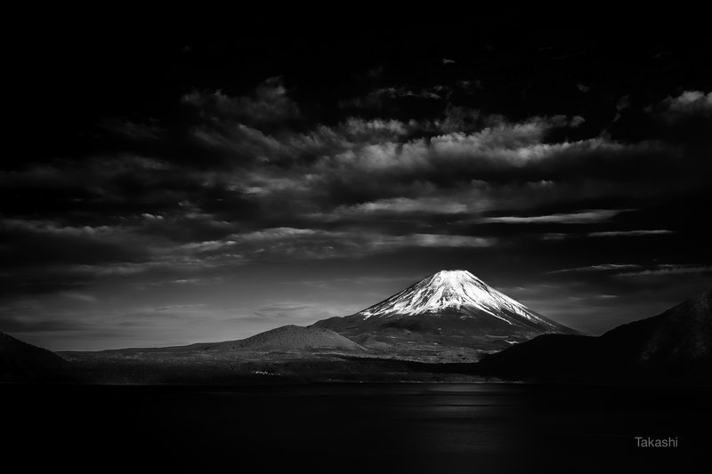 fuji,mountain,japan,snow,lake,water,clouds Sunset view of a dayphoto preview