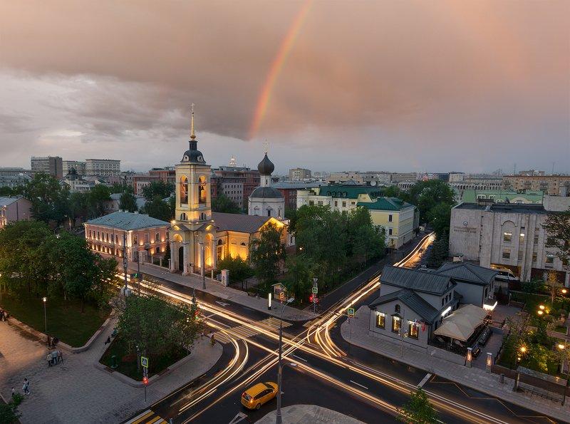 радуга церковь Радужный мост photo preview