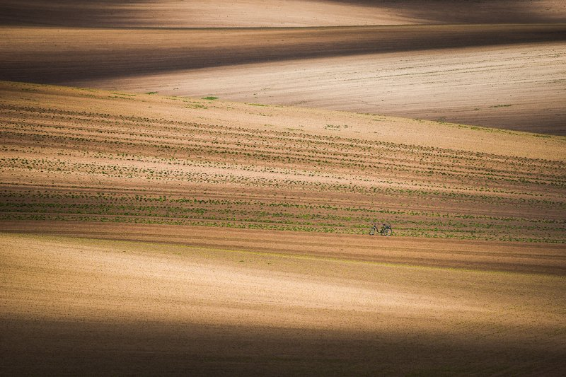 south moravia, czech, fields, spring, bike Moravian impressionsphoto preview