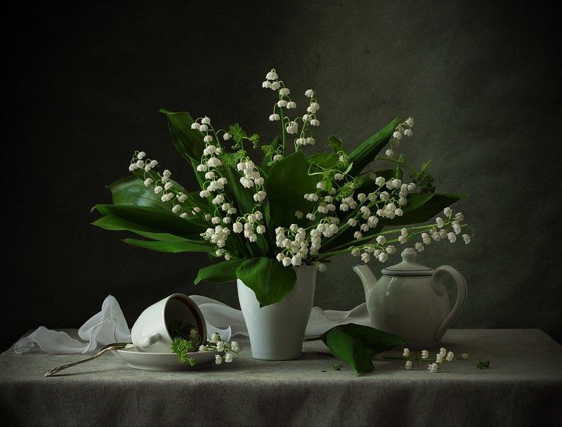 натюрморт., цветы., ландыши Ландышиphoto preview