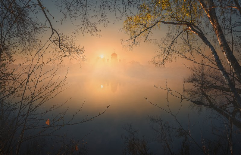 Весеннее утро. Свято-Введенская Островная пустынь.photo preview