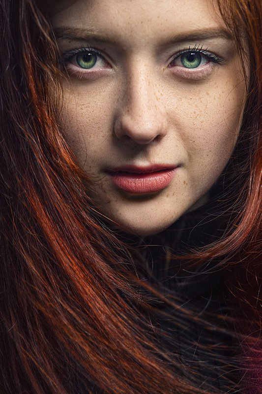 глаза, лицо, рыжая, портрет Елизаветтаphoto preview