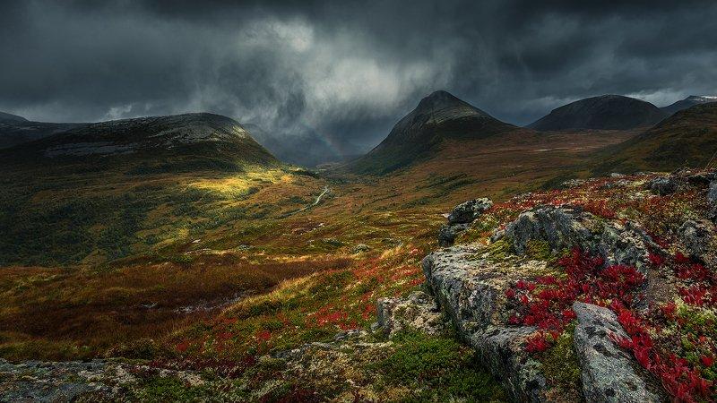 norway,landscape,storm,mountains,rain,light,autumn Dramatic landscape by Norwayphoto preview
