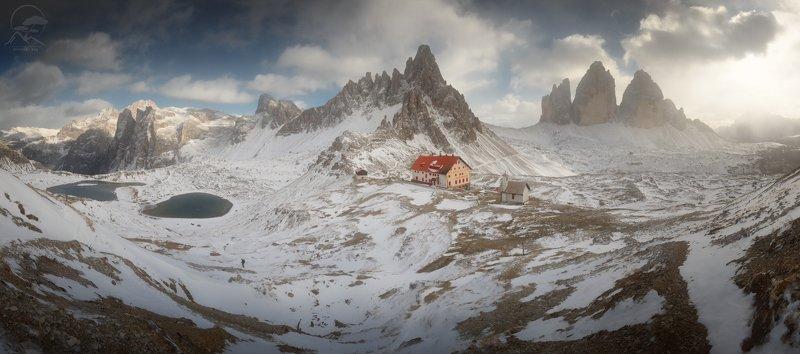 пейзаж, природа, горы, италия, доломиты Tre Cime di Lavaredo фото превью