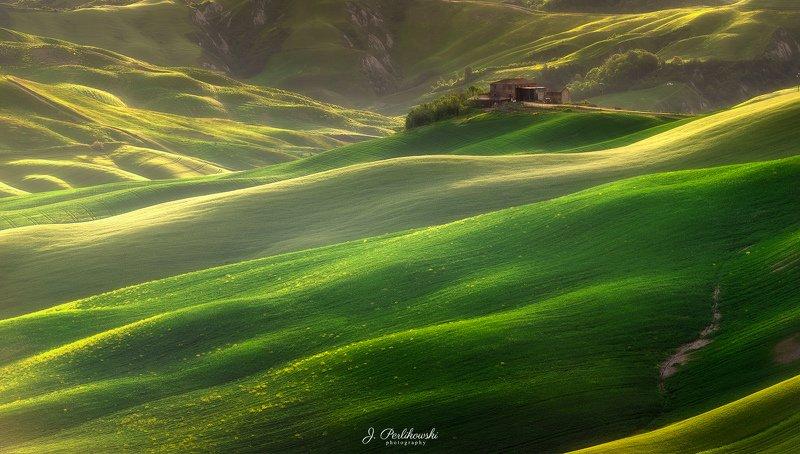tuscany, landscape, italy, crete senesi, green fields, Endless wavesphoto preview
