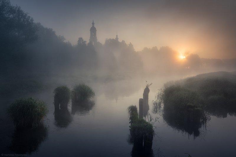 россия, филипповское, шерна, река, туман Филипповскоеphoto preview