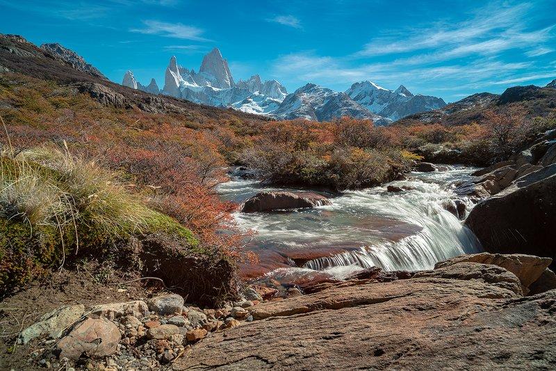пейзаж, природа, гора, Фицрой, Патагония,Аргентина Осенний Фицрой в ясную погоду, Патагония,Аргентинаphoto preview
