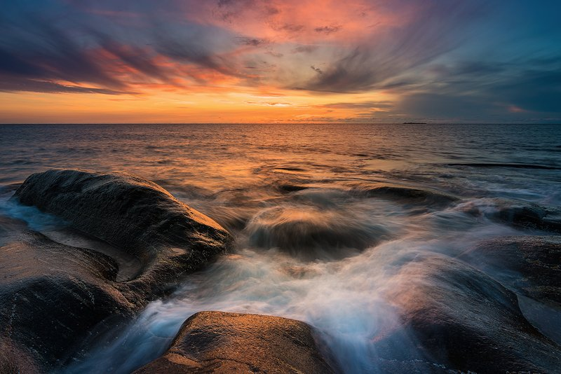 norway,landscape,light,sunset,rock,stone,mood,sea Norwayphoto preview