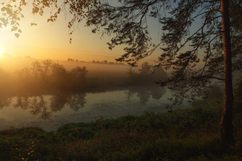 горы, облака, природа, рассвет, река, путешествие, россия, озеро Рассвет на Ухтохмеphoto preview