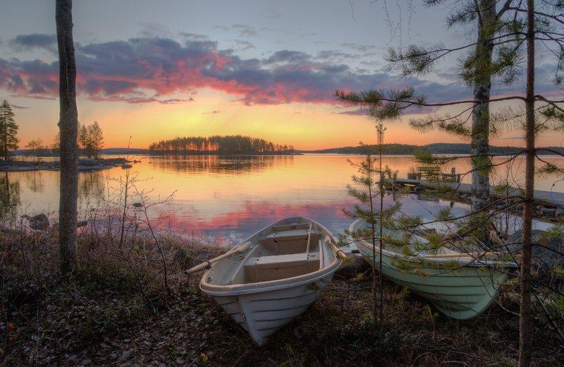 Восход на озере Пиелиненphoto preview