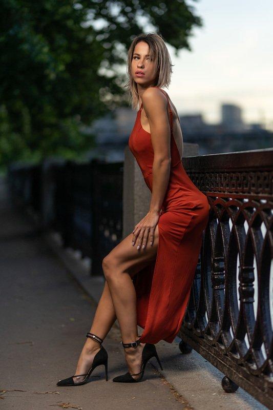 girl street portrait godox flashlight Reznikova Maria фото превью