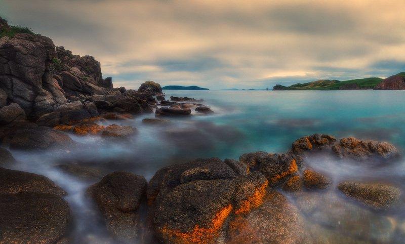 море, утро, лето, скалы ***photo preview