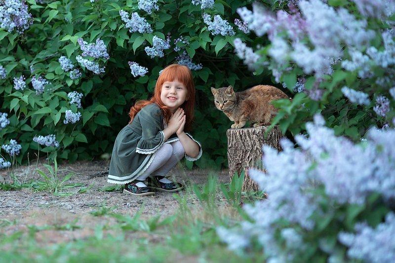 девочка,  детская и семейная фотосессия, детский и семейный фотограф, радость, восторг, счастье,кот, малышка, девочка, фотосессия, маленькие дети, детское фото, детский фотограф, детский и семейный фотограф, детское фото, детская фотосессия, восторг Кот и рыжикphoto preview