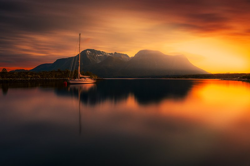 norway,landscape,light,sunset,mood,boat Norwayphoto preview