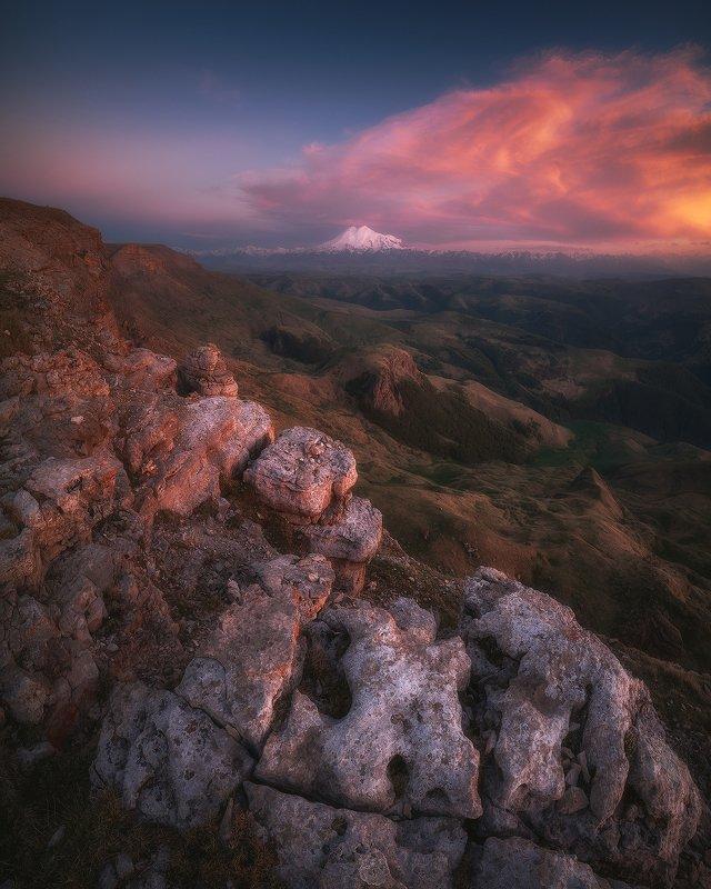 бермамыт, эльбрус, карачаево-черкессия, горы, пейзаж, закат Плато Бермамытphoto preview