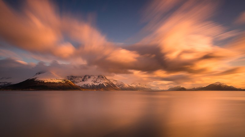 norway,landscape,light,sunset,mood,sea Norwegian sunsetphoto preview