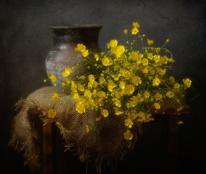 натюрморт,лютики,цветы с лютиками...photo preview
