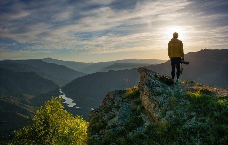 природа, пейзаж, горы, кавказ, природа россии, дикая природа, восход, свет, облака, рассвет, лето, утро ***photo preview