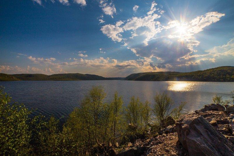 пейзаж, солнце, озёра, север, кольский край, деревья, сопки Уединение с природойphoto preview