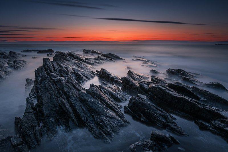 norway,rock,sunset,sea,coast,mood The Norwegian coastphoto preview