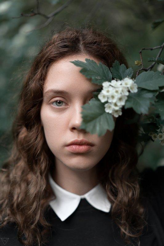 Женский портрет, портрет, природа, portrait, women, красивый портрет, взгляд, цветы Машаphoto preview