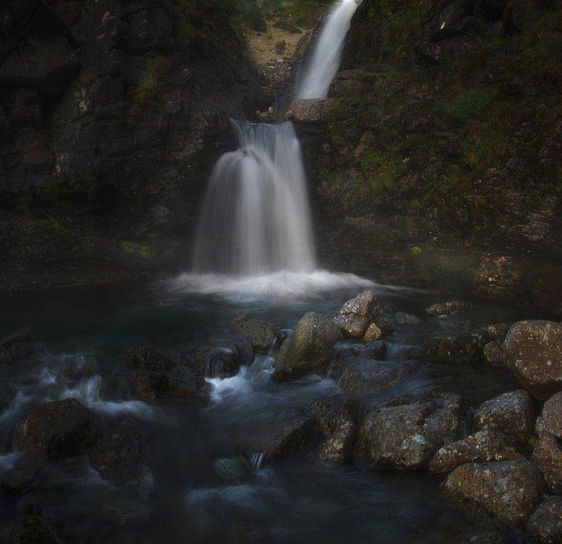Хибины, Кольский полуостров, водопад, Крайний Север Водопад \