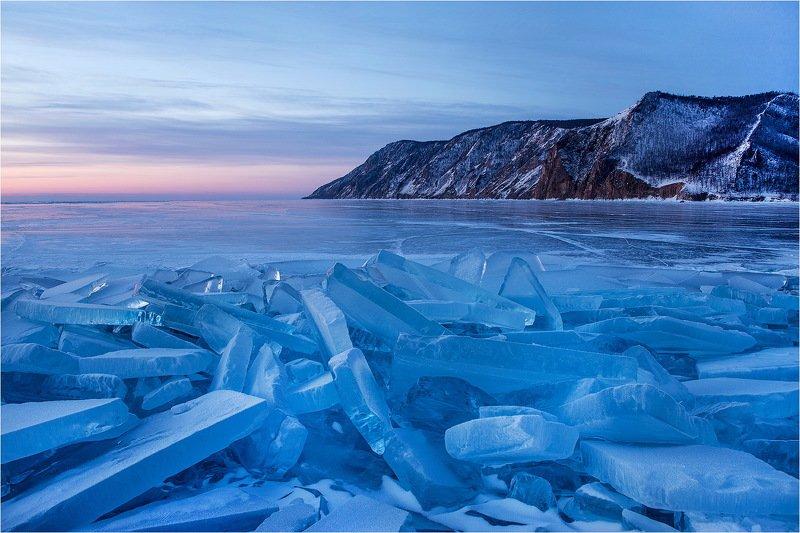 байкал, озеро, зима, лёд, февраль, холод, утро, photo preview