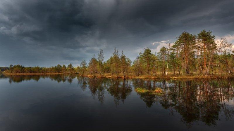 горы, облака, природа, рассвет, река, путешествие, россия, озеро Перед дождемphoto preview