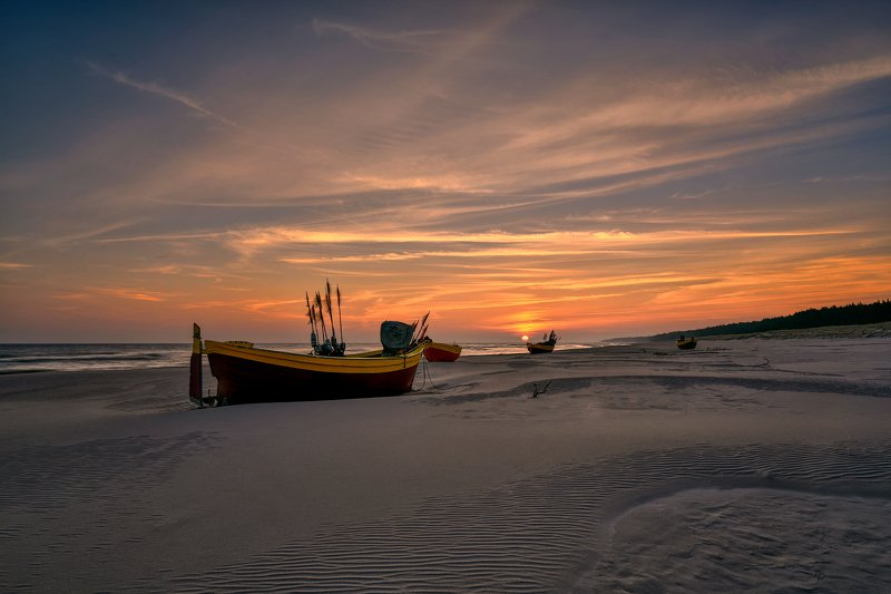 boat, beach, baltic sea On the Beach photo preview
