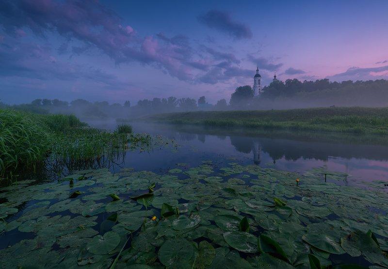 утро, рассвет, природа, туман, река Предрассветное состояниеphoto preview